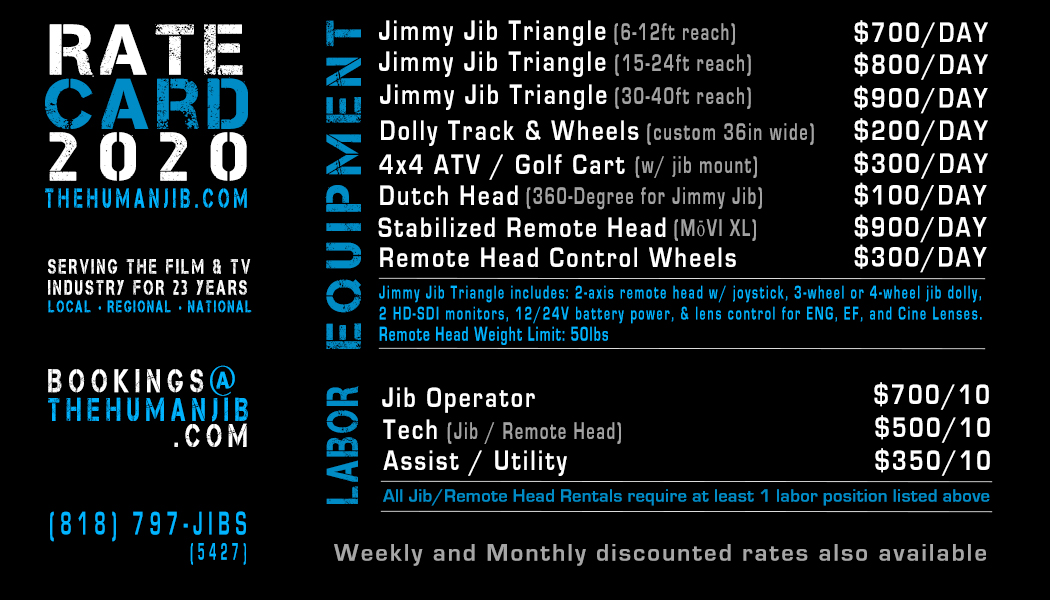 jib operator rates - jib operator rate card