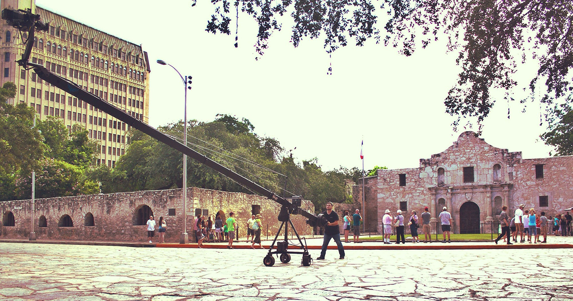 jib operator at alamo plaza in san antonio - jimmy jib in san antonio