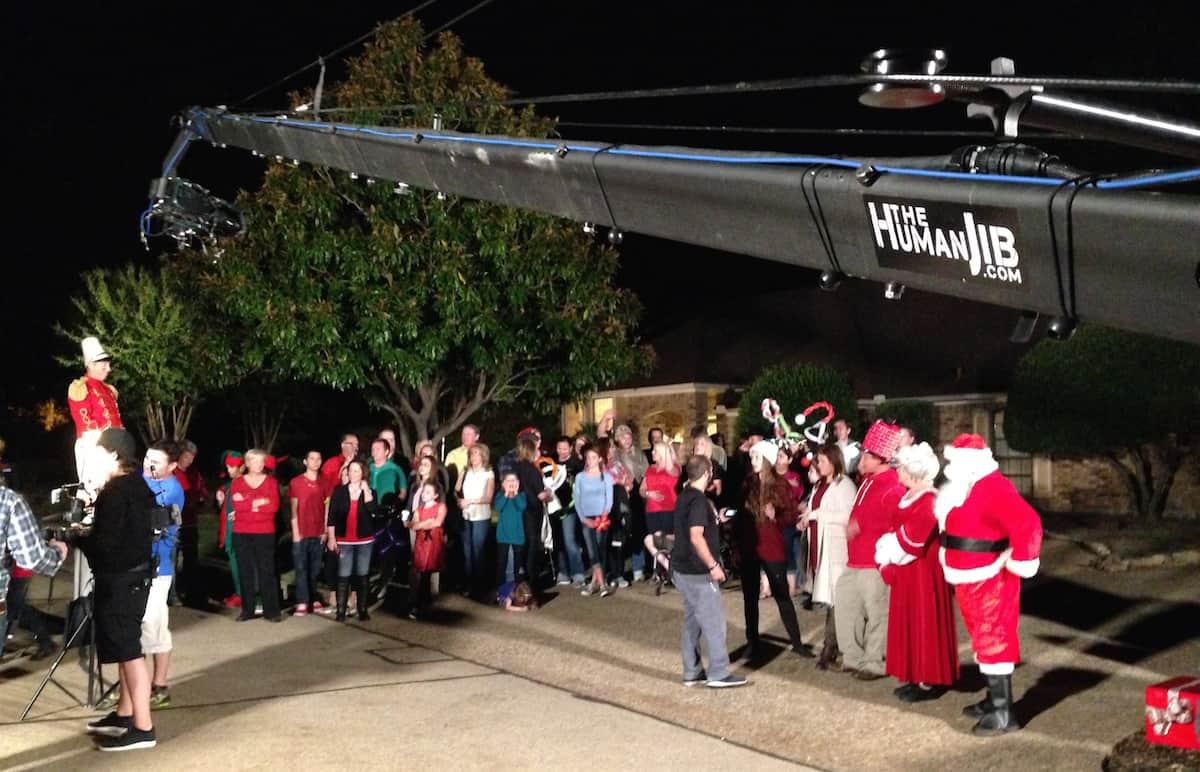 Great Christmas Light Fight - Jib Dallas TX