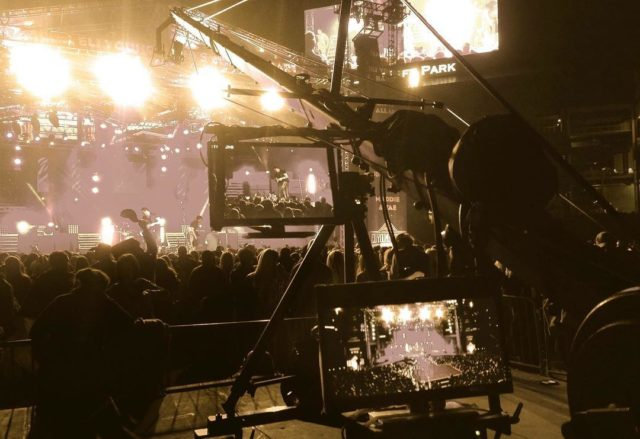 Our #jimmyjib #cameracrane and #jiboperator in #concert with the #eliyoungband