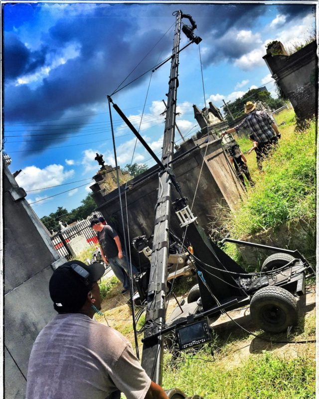 Throw back to our 30ft Jib shooting the cemetery fight scene on Season 1 of @intothebadlandsamc in New Orleans, Louisiana.
